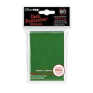 ULTRA PRO Deck Protector Sleeves 60 CT Serpent Green Small (62mm x 89mm)