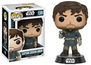 Pop! Star Wars Rogue One Vinyl Bobble-Head Figure Captain Cassian Andor #139