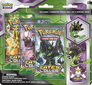 Pokemon Trading Card Game: Mega Zygarde 3-Packs Blister with Collector's Pin