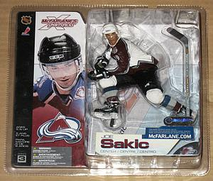 NHL Sportspicks Series 3 Joe Sakic (Colorado Avalanche) White Jersey Variant