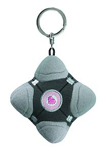 Portal Plush Keychain - Companion Cube (Pink Center)