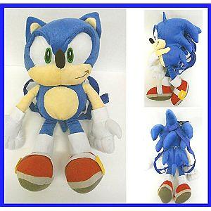 Sonic the Hedgehog Plush: Sonic Backpack