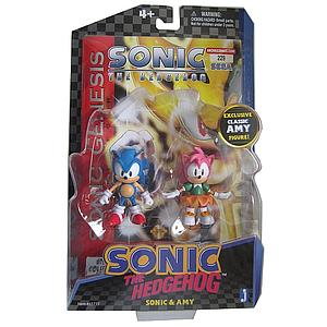 "Sonic the Hedgehog 20th Anniversary 2"" Comic Book 2 Pack:Classic Amy & Sonic"