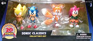 "Sonic the Hedgehog 20th Anniversary 3"" 4 Pack Collector Set"