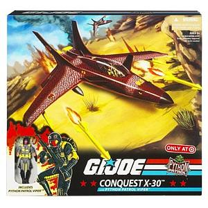 "G.I. Joe Exclusive 3 3/4"" Vehicle: Conquest X-30 with Python Patrol Viper"
