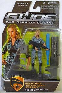 "G.I. Joe The Rise of Cobra 3 3/4"" Wave 2: Courtney ""Cover Girl"" Krieger"