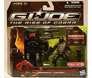 "G.I. Joe The Rise of Cobra 3 3/4"" Exclusive: Cobra Viper Commando with Serpent Armor"