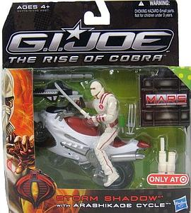 "G.I. Joe The Rise of Cobra 3 3/4"" Exclusive: Storm Shadow with Arashikade Cycle"