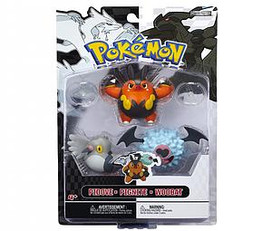 Pokemon Black White 3-Pack Series 3 Basic Figures: Pignite, Woobat, Pidove