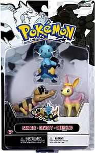 Pokemon Black White 3-Pack Series 3 Basic Figures: Dewott, Deerling, Sandile
