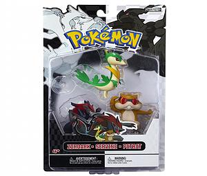 Pokemon Black White 3-Pack Series 3 Basic Figures: Servine, Patrat, Zoroark