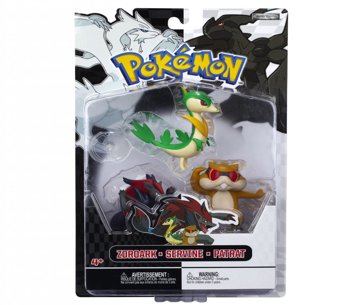 pokemon black white 3 pack series 3 basic figures servine patrat zoroark. Black Bedroom Furniture Sets. Home Design Ideas
