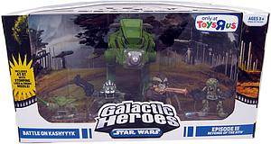 Star Wars Clone Wars Galactic Heroes Cinema Scene Exclusive: Battle On Kashyyyk