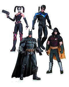 "Batman Arkham City 7"" Figure: Box Set (Batman, Nightwing, Robin, & Harley Quinn)"