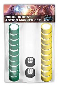 Mage Wars: Action Markers Set 1 (Green/Yellow)