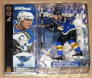 NHL Sportspicks Series 2 Chris Pronger (St. Louis Blues) Blue Jersey Variant
