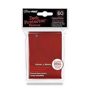 Card Sleeves 60-pack Small Size: Red