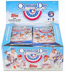 2013 MLB Opening Day Baseball Hobby Pack