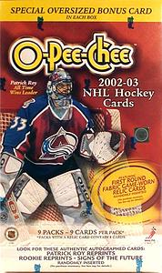 2002-03 Upper Deck O-Pee-Chee Blaster Box