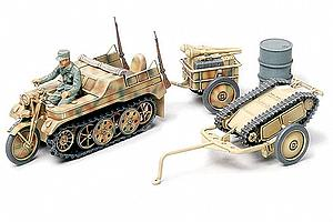 1/48 Kettenkrad with Cart & Goliath Vehicle (32502)