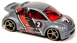 Hot Wheels Cars Die-Cast: Volkswagen New Beetle Cup (Gold Rim)
