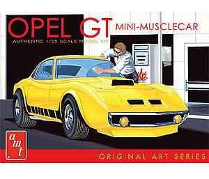 AMT 1:25 Scale Car Plastic Model Kit Opel GT Original Art Series (White) (AMT729)
