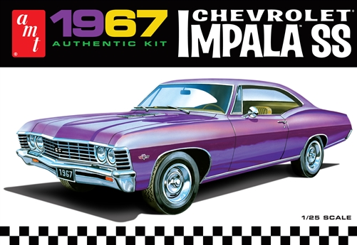 AMT 1:25 Scale Model Kit 1967 Chevrolet Impala SS (AMT981M)