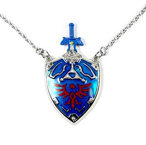 Zelda Necklace Master Sword & Hylian Shield