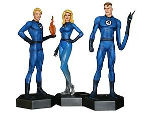 Bowen Marvel Collectible 1/6 Scale Statue Figure: Fantastic Four (Reid Richards, Sue Storm & Johnny Storm)