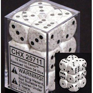 Dice 12D6 Set - Speckled Arctic Camo
