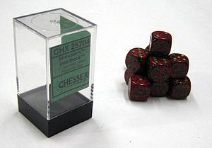 Dice 12D6 Set - Speckled Strawberry