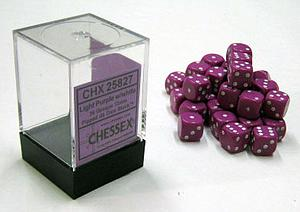 Dice 36D6 Set - Opaque Light Purple w/White