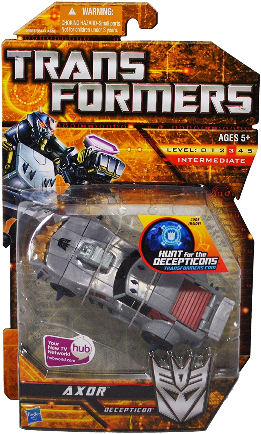 Transformers Hunt for the Decepticons Series Deluxe Class Axor