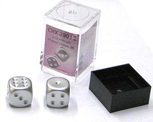 Dice 2D6 Set - Metal Plated Aluminum