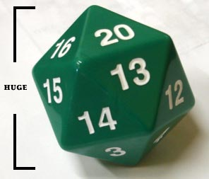 Koplow Dice Giant D20 - Green