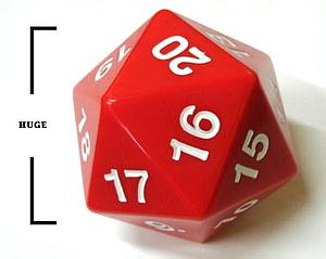 Koplow Dice Giant D20 - Red