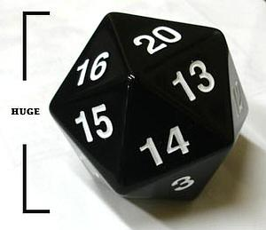 Koplow Dice Giant D20 - Black