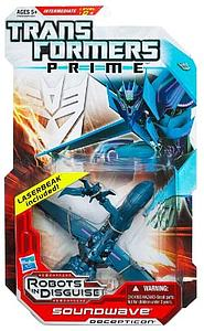 HASBRO Transformers Prime Robots in Disguise Series Deluxe Class Soundwave