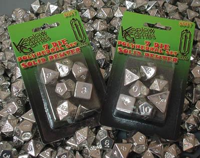 RAFM Dice 7-Piece Polyhedral Set - Heavy Metal Solid Pewter Dice Set