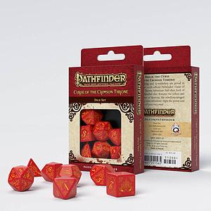 Pathfinder 7-Dice Set: Curse of the Crimson Throne