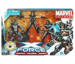 "Marvel Universe 3 3/4"" Team Pack: X-Force (Wolverine, Deadpool, Warpath)"