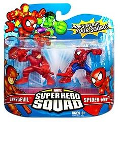 "Marvel Super Hero Squad 2"" 2-Pack: Daredevil & Spider-Man"