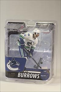 NHL Sportspicks Series 29 Alex Burrows (Vancouver Canucks) White Jersey Silver Collector Level (Only 1000 Made!)