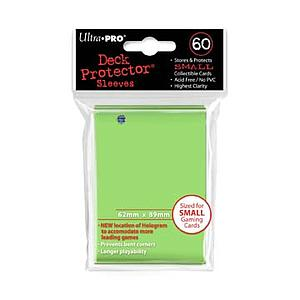 Card Sleeves 60-pack Small Size: Lime Green