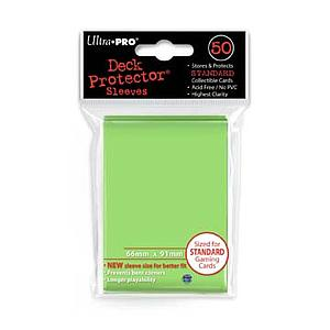 Lime Green Standard Card Sleeves (66mm x 91mm)