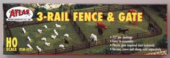 3-Rail Fence & Gate (777)