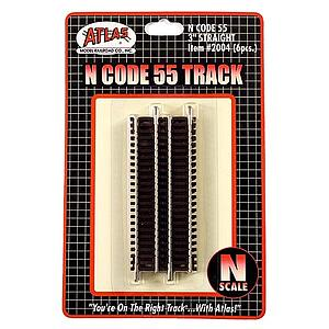 "Code 55 3"" Straight Track [6 Pieces] (2004)"