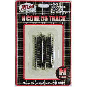 "Code 55 Track 11.25"" Radius Half Curved [6 Pieces] (2013)"