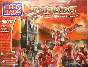 Mega Bloks Dragons Elementals: Fire Ghost Dragons (98001)