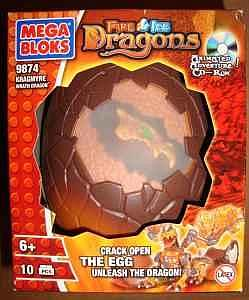 Mega Bloks Fire/Ice Dragons: Kragmyre Wrath Dragon (9874)